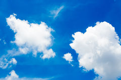 Clouds in the blue sky. White clouds in the blue sky Stock Image