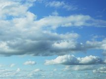 Clouds in the blue sky Stock Images