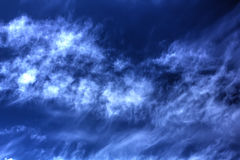 Clouds. Blue sky. Royalty Free Stock Photography