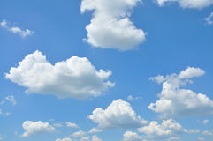 Clouds in the blue sky. White clouds in the beautiful blue sky