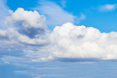 Clouds blue sky. White cumulus clouds in the blue sky Royalty Free Stock Photography