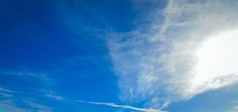 Clouds on a blue sky. White clouds on a blue day sky Royalty Free Stock Photo
