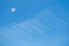 Clouds in the blue sky. White fluffy clouds in the blue sky Stock Photos