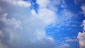 Clouds with blue sky stock video footage