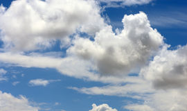Clouds in the blue summer sky Royalty Free Stock Photos