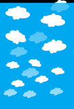 Clouds, Blue, White, Sky, Nature Royalty Free Stock Image