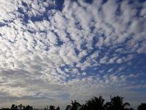 Clouds. Bluer Cumulus clouds stock image