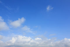 Clouds and Bright blue sky Stock Images
