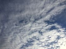 Clouds 038. Bright blue sky white fluffy Royalty Free Stock Photo