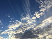 Clouds 043. Bright blue sky wispy white Royalty Free Stock Image