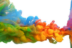 Clouds of bright colorful ink Royalty Free Stock Photos