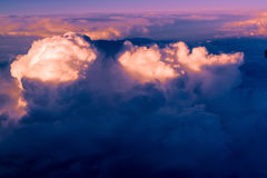 Clouds. bright morning dawn in the sky Royalty Free Stock Photo