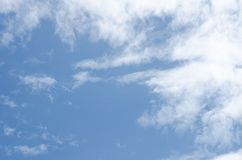 Clouds with bright sky Can be edited or added to your work. For background royalty free stock image