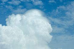 Clouds with bright sky Can be edited or added to your work. For background royalty free stock photo