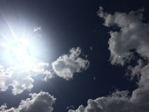 Clouds 044. Bright sun white puffy Stock Image