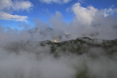 Clouds in Bucegi Mountain Romanian. Nearby Malaiesti hut Stock Photo