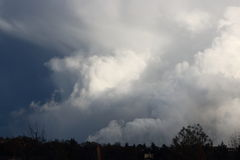 Clouds building for a tornado Royalty Free Stock Photos
