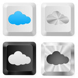 Clouds on the buttons Royalty Free Stock Photo