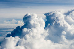 Clouds cape Blue sky and white cloud. Sunny day Royalty Free Stock Photos