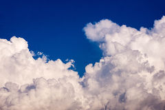 Clouds cape Blue sky and white cloud. Sunny day Stock Photos