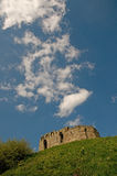 Clouds and the castle Royalty Free Stock Images