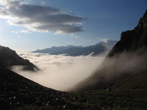 Clouds on Caucasus stock images