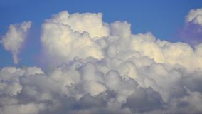 Clouds changing formations stock video