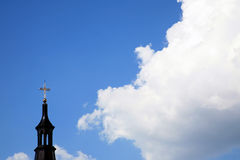 Clouds and church Stock Photo