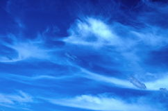 Clouds. Cirrus clouds against the blue sky Stock Photos