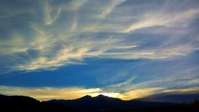 Clouds cirrus Stock Images