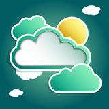 Clouds city Royalty Free Stock Photos
