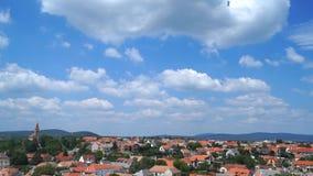 Clouds city timelapse sky stock video