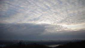 Clouds city timelapse sky stock video footage