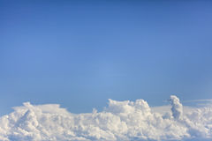 Clouds on Clear Blue Skies Royalty Free Stock Photography