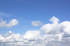 Clouds And Clear Blue Sky Royalty Free Stock Photo