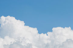 Clouds And Clear Blue Sky. Weather Nature Stock Photo