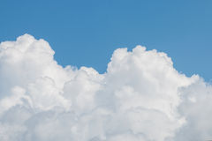 Clouds And Clear Blue Sky. Weather Nature Royalty Free Stock Images