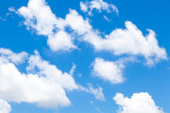 Clouds in clear day. Royalty Free Stock Photos