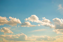 Clouds on a clear day Royalty Free Stock Photos