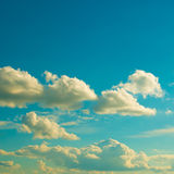 Clouds on a clear day Royalty Free Stock Photo