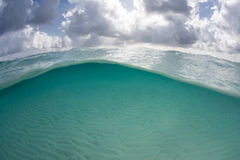 Clouds and Clear Water in the Caribbean Sea Royalty Free Stock Photography