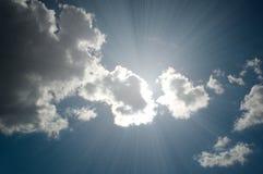 Clouds closing the sun Royalty Free Stock Photos