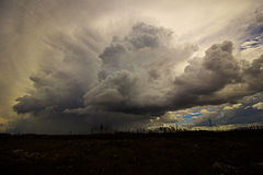 Clouds. Cloud formations shows that a storm is coming Stock Images