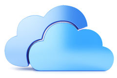 Clouds. Cloud icon to download data  on white background Royalty Free Stock Photography