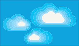 Clouds. Cloud shaped contemporary colorfull abstraction Stock Photography