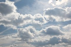 Clouds. In a cloudless sky Royalty Free Stock Photo