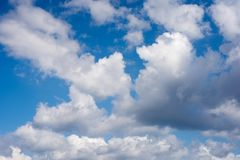 Clouds. During windy and sunny day Stock Photos