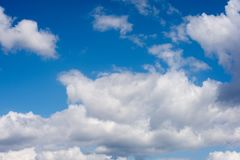 Clouds. During windy and sunny day Royalty Free Stock Photos