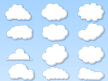 Clouds on cloudy blue sky stock illustration