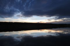 Clouds, Cloudy, Reflection, Blue Royalty Free Stock Photo